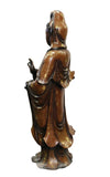 Large Quality Made Chinese Fine Bronze Metal Bottle Standing Kwan Yin Buddha Statue cs2785S