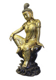 metal Kwan Yin - Bodhisattva -  goddess of mercy - goddess of compassion