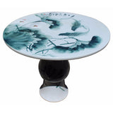 porcelain round shape table