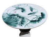 fish painting round table