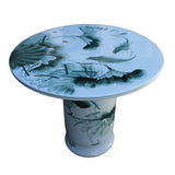 round shape ceramic table