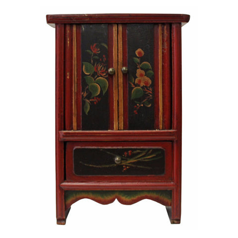 small chest - altar display - vintage small cabinet