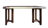 Raw Wood Plank Rectangular Shape Wood Base Desk Table cs2861S