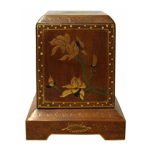 lacquer box - vintage wood box - Chinese box
