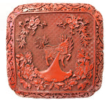 red box - Chinese carving - Red lacquer box