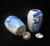 porcelain blue and white general jar