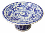 blue white plate - porcelain plate - offering disc