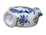 Chinese Blue White Porcelain People Theme Flower Shape Vase cs3022S