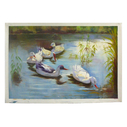 oil painting ducks