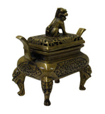 Oriental Fine Bronze Metal Incense Burner Display