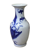 Chinese Blue White Porcelain People Theme Round Vase cs3100S