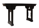 solid black wood altar table