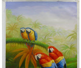 bird oil painiting