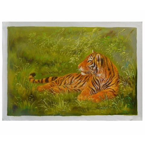 oil painting tiger