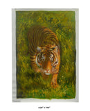 himalaya tiger oil painting