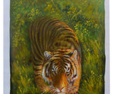 Chinese zodiac tiger oil painting