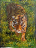 india tiger oil painting