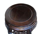 Chinese Oriental Round Brown Stain Plant Stand Pedestal Table cs3250S