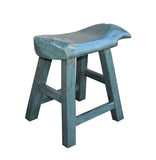 blue color fish shape stool