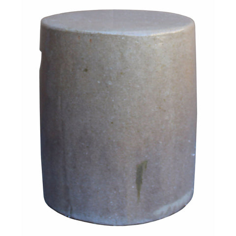 beige color round procelain stool