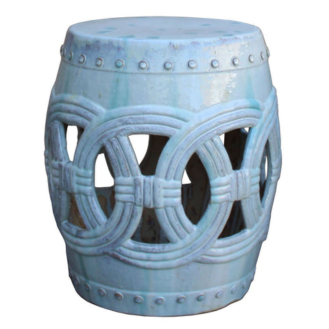 ceramic white round stool