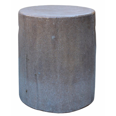 beige color round porcelain stool