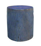 indoor - outdoor light blue stool