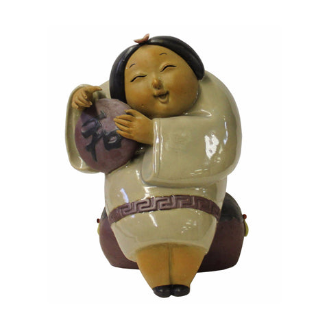 Oriental Ceramic Modern Art Decor Style Lady Figure