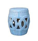 white color ceramic round stool