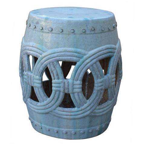 white clay round shape stool