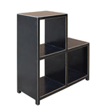 Black Lacquer Triangle Step Shape Display Cabinet Stand cs3327S