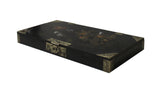 Chinese Black Lacquer Flower Bird Graphic Rectangular Display Box cs3344S