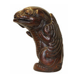 bamboo Carving - Chinese foo dogs - bamboo art