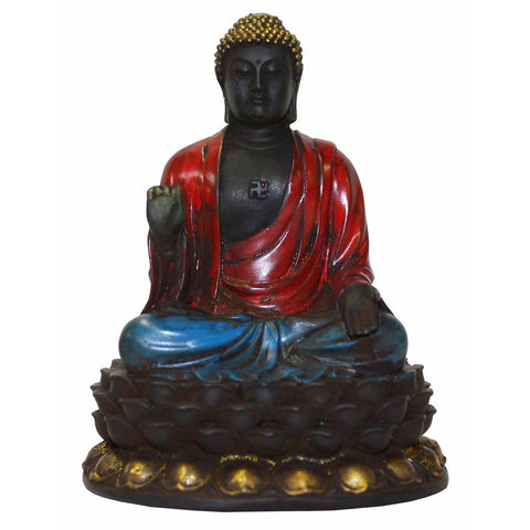 Crystal glass Buddha statue, Buddha on lotus base