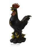 Chinese Brown Bronze Metal Rooster Ingot Small Figure cs3383S