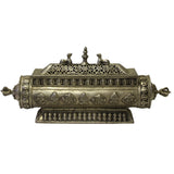 Tibetan Silver Color Round Rectangular Shape Incense Burner