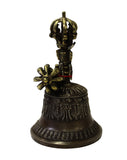 Handmade Bronze Metal Tibetan Ritual Bell and Vajra Dorje Set cs3396S