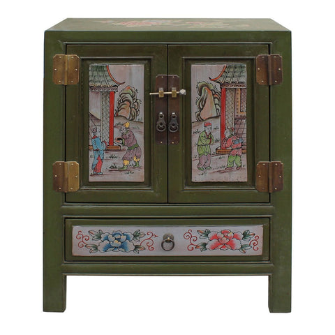 green color end table - nightstand