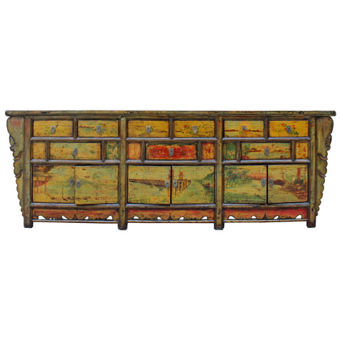 Antique Chinese long low cabinet