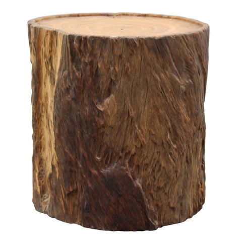 natural tree trunk table stool