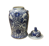 Chinese Blue & White People Theme Porcelain Large General Jar cs3551S
