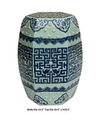 Chinese Blue & White Porcelain Scenery Hexagon Pattern Stool Table cs3571S