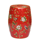 red color round stool