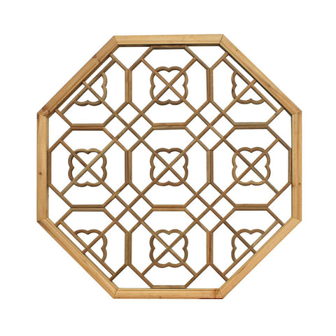 wood hexagon wall panel