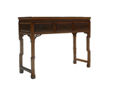 Chinese Light Brown Three Drawers Altar Table Desk cs360S