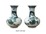 porcelain vase- porcelain container - dragon
