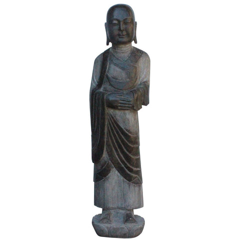 outdoor indoor stone monk statue