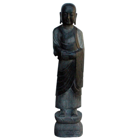 out door indoor stone monk statue