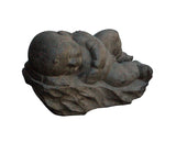 stone carving sleeping baby statue