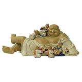 clay Happy Buddha with many kids
